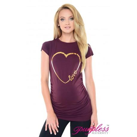 Love Heart Top 2011 Plum