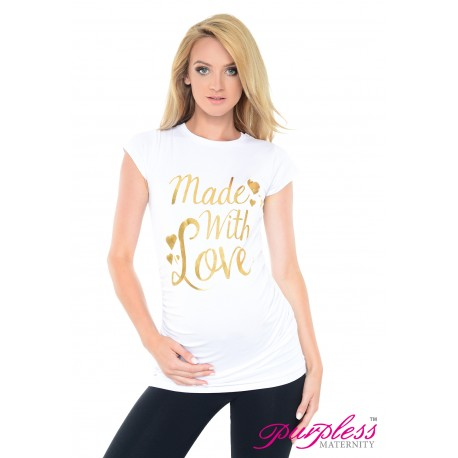 Made with Love Top 2015 White