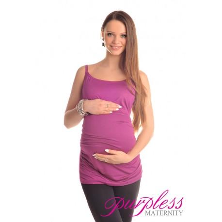 Spaghetti Strap Top Camisole Vest 8010 Violet