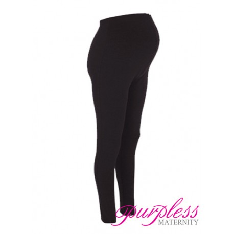 Stretchy Maternity Leggings Over Bump Full Length 1050 Black