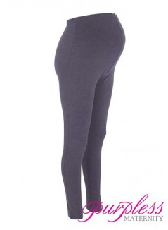 Stretchy Maternity Leggings Over Bump Full Length 1050 Graphite