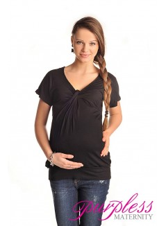 Twist Knot Front Top 6065 Black