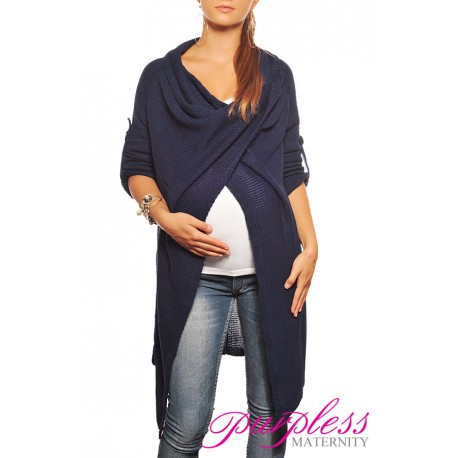 Maternity Cardigan 9001 Navy
