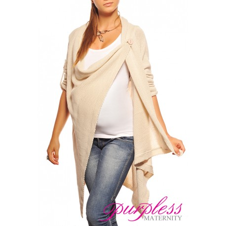 Maternity Cardigan 9001 Cream