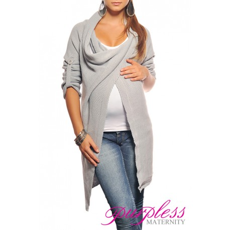 Maternity Cardigan 9001 Light Gray