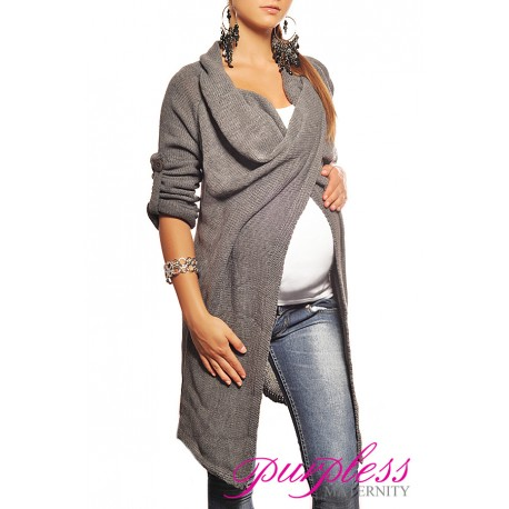Maternity Cardigan 9001 Dark Gray