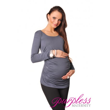 Long Sleeve Top 8041 Graphite