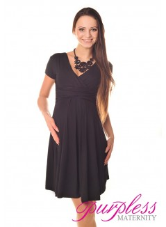 Short Sleeve Summer Dress 8417 Black