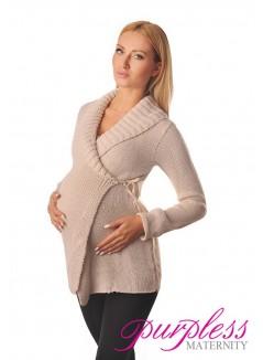 Wrap Over Cardigan Pregnancy Nursing 9002 Beige