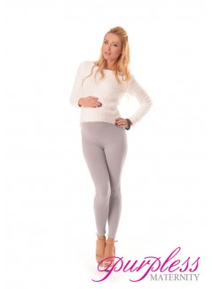 Stretchy Maternity Leggings 1000 Light Gray