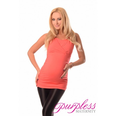 2 in 1 Maternity and Nursing Top 7005 Coral
