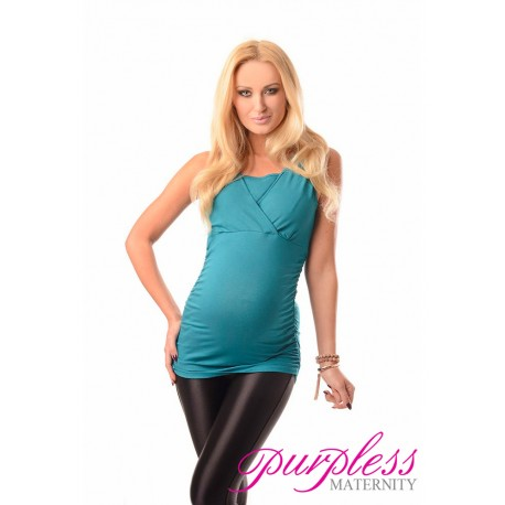 2 in 1 Maternity and Nursing Top 7005 Turquoise