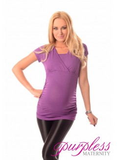 2 in 1 Maternity and Nursing Top 7006 Violet