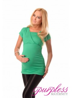 2 in 1 Maternity and Nursing Top 7006 Green