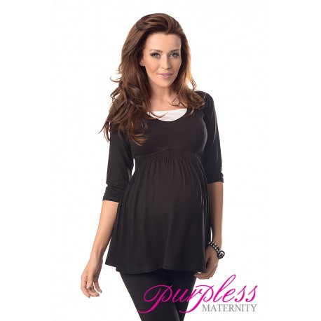 Marvellous Maternity Top 5200 Black