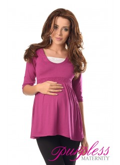Marvellous Maternity Top 5200 Dark Pink
