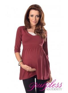 Marvellous Maternity Top 5200 Burgundy