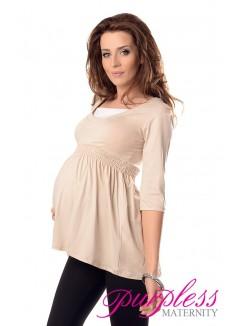 Marvellous Maternity Top 5200 Beige