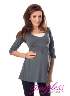 Marvellous Maternity Top 5200 Army Gray