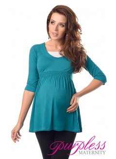 Marvellous Maternity Top 5200 Dark Turquoise