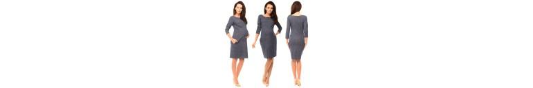 6100 Denim Look Dress with Pockets