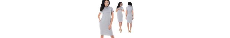 6225 Nursing Funnel Neck Dress