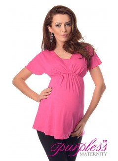 2in1 Maternity & Nursing Top 7042 Hot Pink