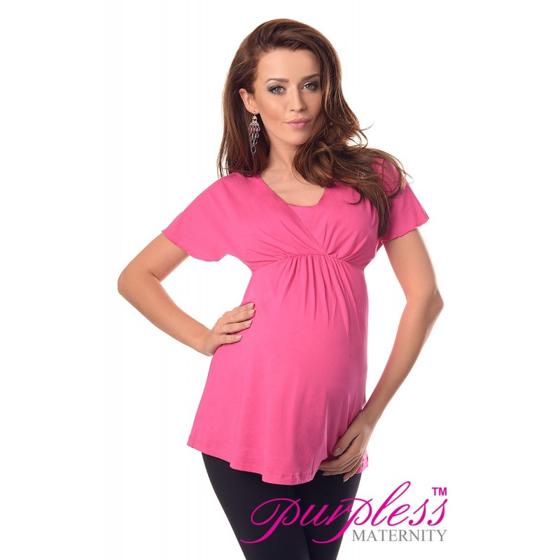 2in1 Maternity & Nursing Top 7042 Hot Pink