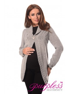 Maternity Cardigan 9004 Light Gray