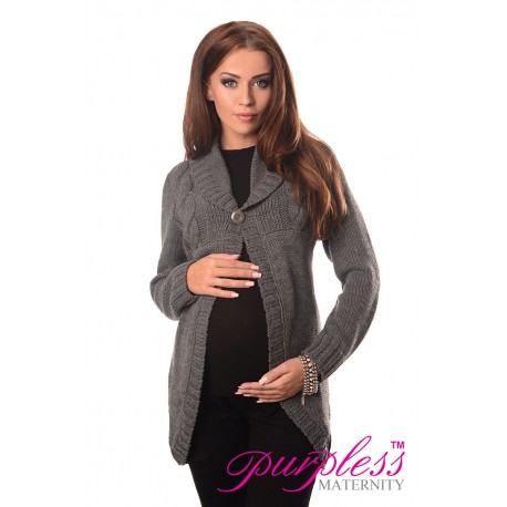 Maternity Cardigan 9004 Dark Gray
