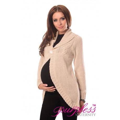 Maternity Cardigan 9004 Cream