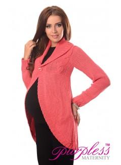 Maternity Cardigan 9004 Coral