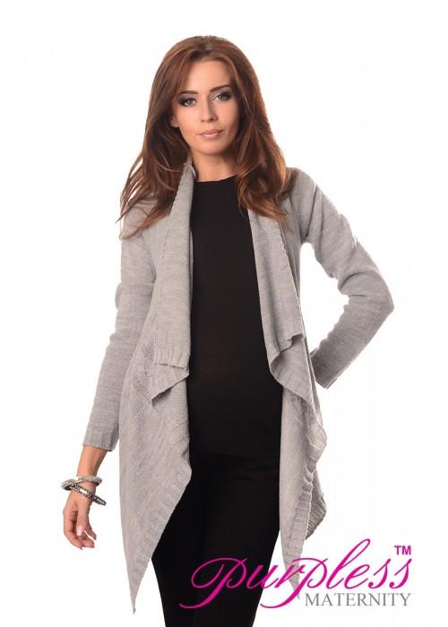 Maternity and Nursing Cardigan 9003 Light Gray