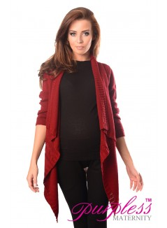 Maternity and Nursing Cardigan 9003 Burgundy