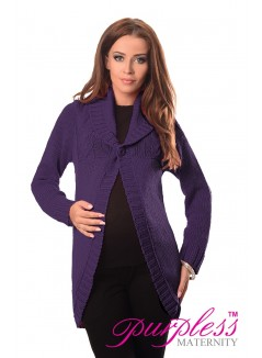 Maternity Cardigan 9004 Dark Violet
