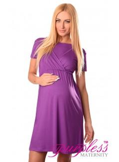 Maternity and Nursing Dress 7200 Violet