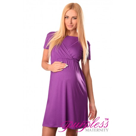 Maternity and Nursing Dress 7200 Violet