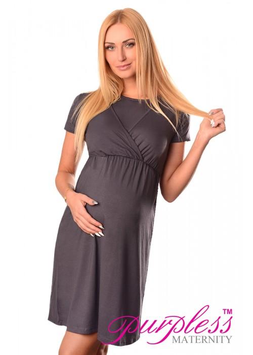 Maternity and Nursing Dress 7200 Graphite