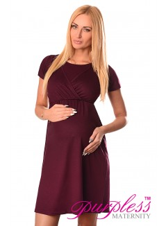 Maternity and Nursing Dress 7200 Plum