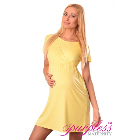 Maternity and Nursing Dress 7200 Yellow