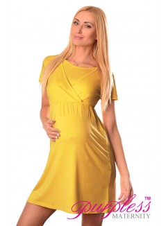 Maternity and Nursing Dress 7200 Mustard