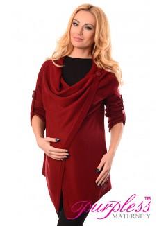 Pregnancy and Nursing Cardigan 9005 Burgundy