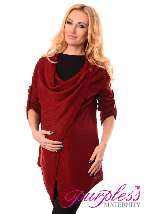 Pregnancy and Nursing Cardigan 9005 Burgundy