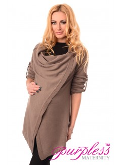 Pregnancy and Nursing Cardigan 9005 Cappuccino