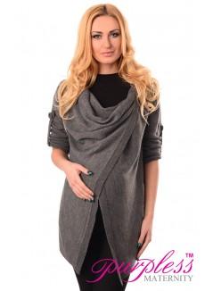 Pregnancy and Nursing Cardigan 9005 Dark Gray