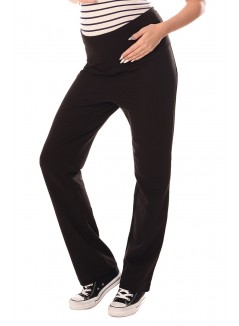 Wide Leg Pregnancy Yoga Lounge Trousers 1300 Black