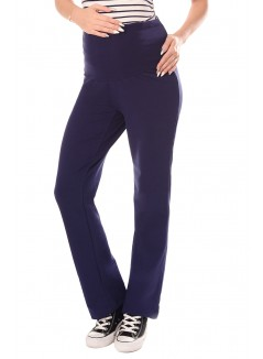 Wide Leg Pregnancy Yoga Lounge Trousers 1300 Navy