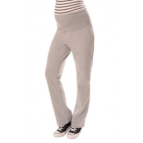 Wide Leg Pregnancy Yoga Lounge Trousers 1300 Light Gray