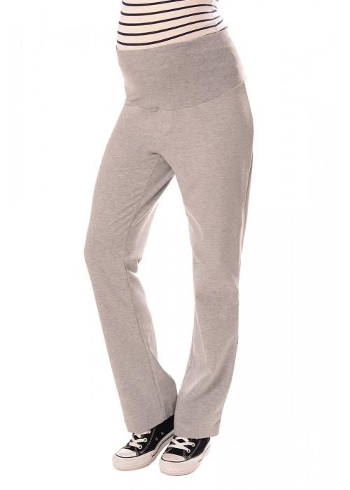 Wide Leg Pregnancy Yoga Lounge Trousers 1300 Light Gray