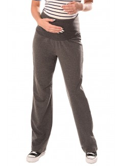 Wide Leg Pregnancy Yoga Lounge Trousers 1300 Dark Gray
